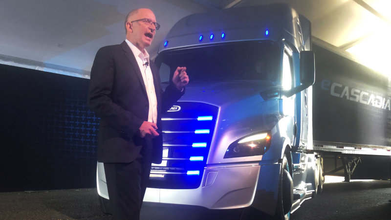 Daimler's Freightliner unveils Tesla-fighter electric trucks