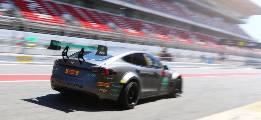 First Electric GT championship Tesla hits the track in Spain