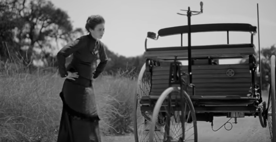 Mercedes film honors the first road trip, by the mother of the automobile