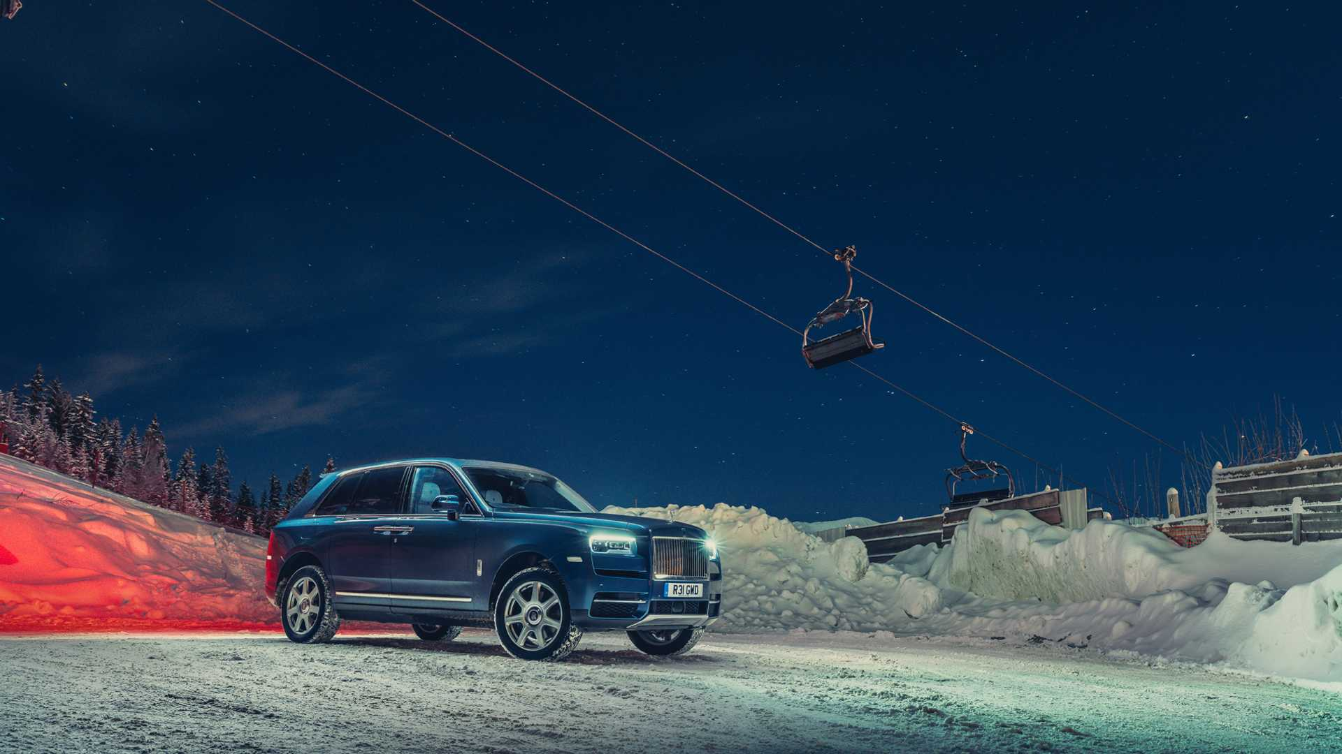Rolls-Royce Cullinan Becomes Ski Resort's Poshest Taxi