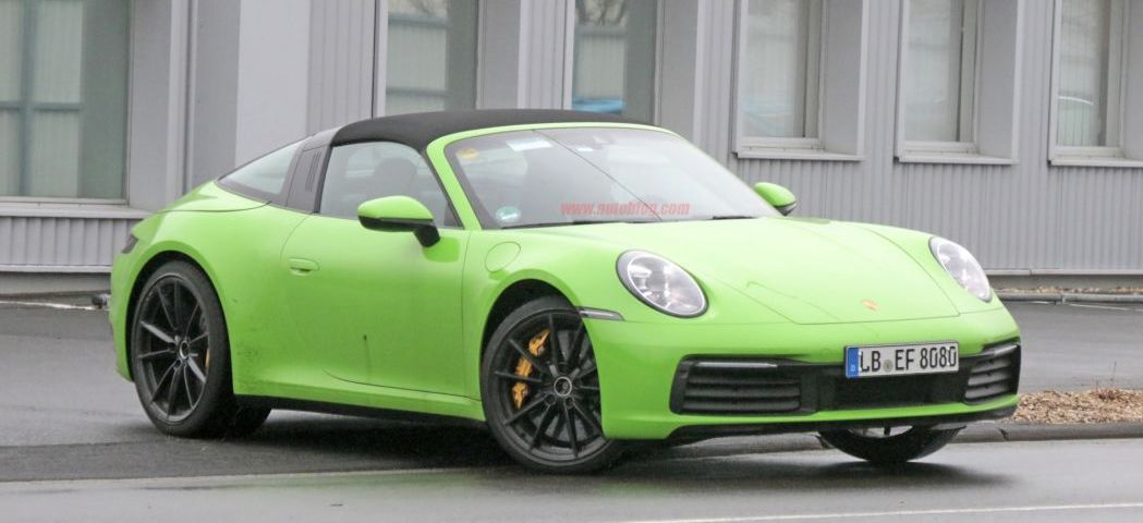 Porsche 911 992 Targa spied at the Nurburgring