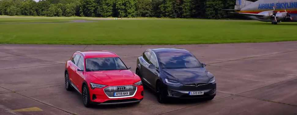 Tesla Model X vs. Audi e-tron Drag Race Is Much Closer Than Expected