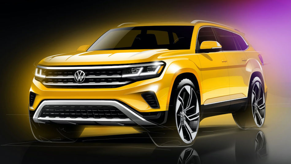 Volkswagen previews updated 2021 Atlas crossover
