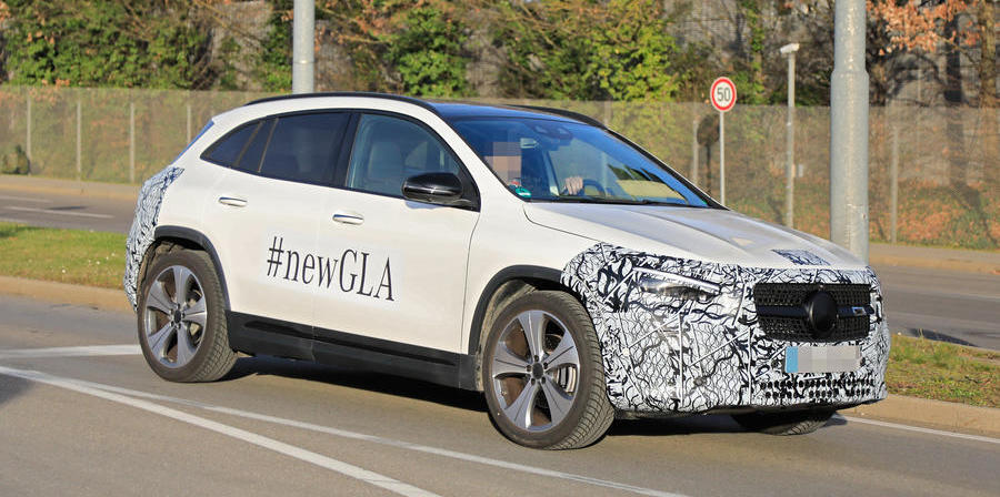 New Mercedes-Benz GLA previewed in new shots ahead of reveal this week