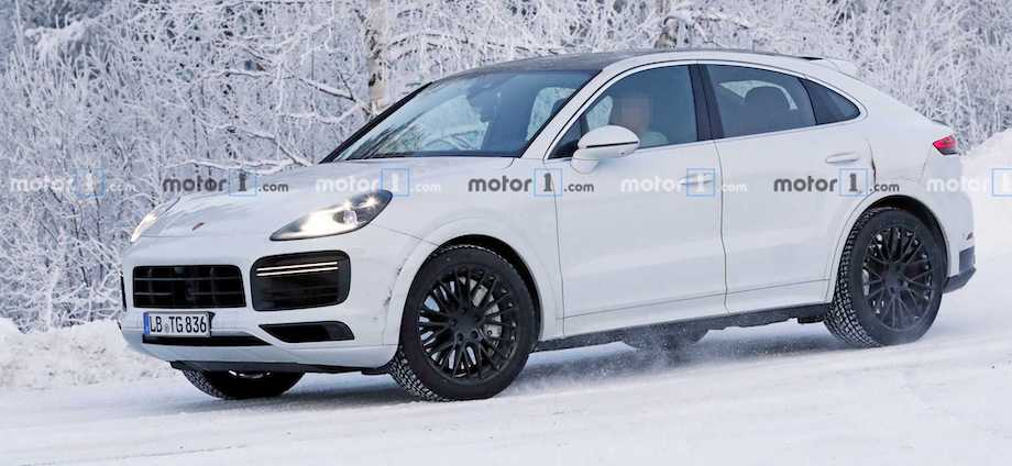 Porsche Cayenne Coupe GT Spied Failing To Hide Revised Exhaust