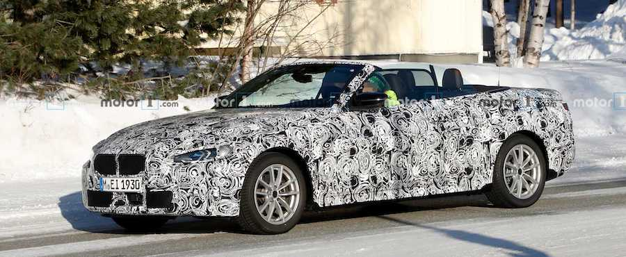 2021 BMW 4 Series Convertible Caught With The Top Down