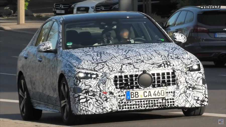 2021 Mercedes C-Class Sedan Spied Up Close In Traffic