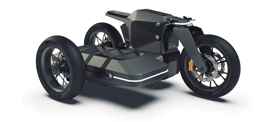 BMW Motorrad X Concept Has Removable Sidecar for Extended Range