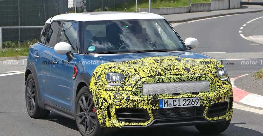 Mini Countryman Facelift Spied Inside And Out At The Nurburgring