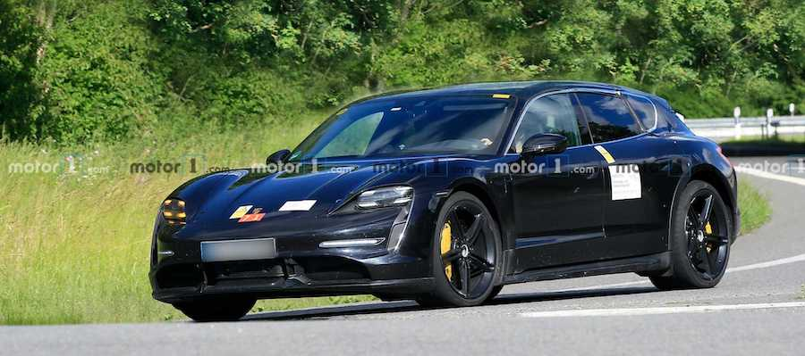 Porsche Taycan Cross Turismo Spied Testing With Sedan Counterpart