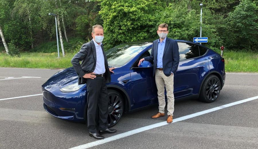 VW CEO Herbert Diess Test Drives The Tesla Model Y: He's Impressed