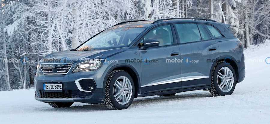 Volkswagen ID.6 Spied Looking Like A Peugeot In Cold Weather Testing